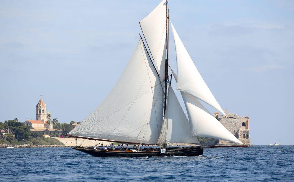 Classic pilot cutter sailing