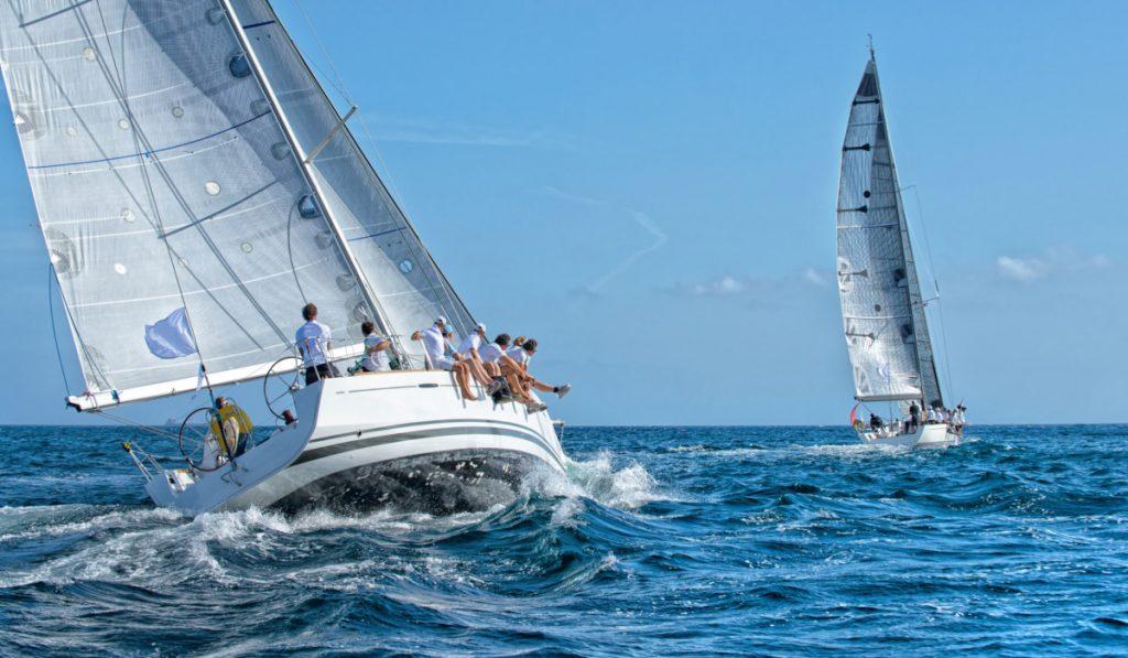 Sailing yacht race. Yachting sport